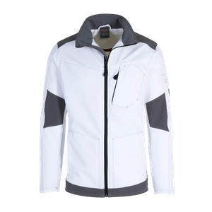 19369-MYCORE FORCE Softshelljacke-white/stone