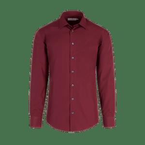 922650-BUSINESS&CASUAL Hemd 1/1, Herren-bordeaux