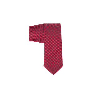 90617-BUSINESS&CASUAL Krawatte-Dots rot