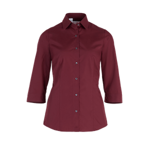 482550-BUSINESS&CASUAL Bluse 3/4-bordeaux