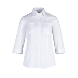 482520-BUSINESS&CASUAL Bluse 3/4-weiß