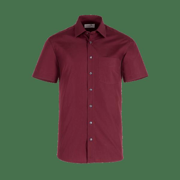 921650-BUSINESS&CASUAL Hemd 1/2, Herren-bordeaux