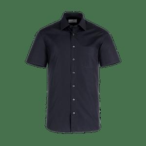 921630-BUSINESS&CASUAL Hemd 1/2-schwarz