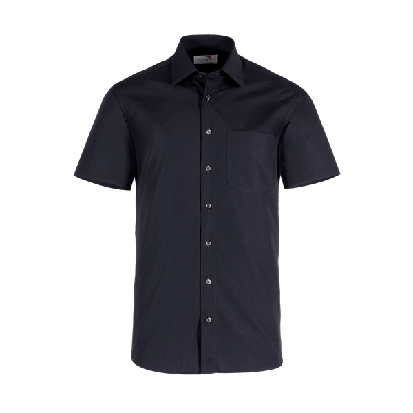921630-BUSINESS&CASUAL Hemd 1/2-schwarz