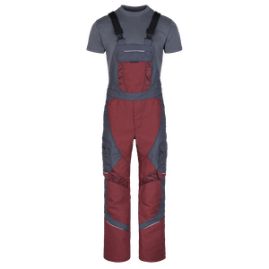 230440-HERO FLEX Latzhose-neo red/grey