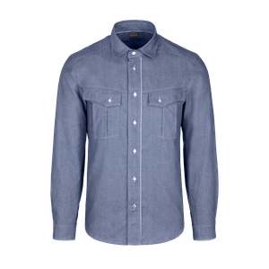 910991-DENIM CRAFT Hemd 1/1, Herren-denim blue
