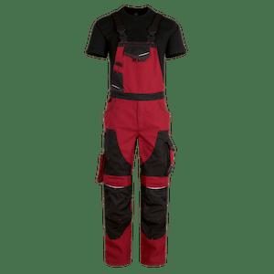 23555-MYCORE FORCE Latzhose m. Kniepolstertaschen-chili/black