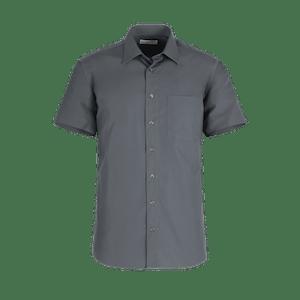 911150-BUSINESS&CASUAL Hemd 1/2, Herren-anthrazit