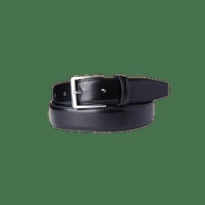 90206-BUSINESS&CASUAL Echtledergürtel-schwarz