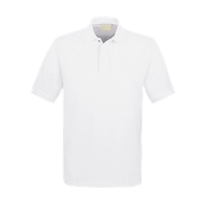 44200-HACCP Polo 1/2, Unisex-weiß