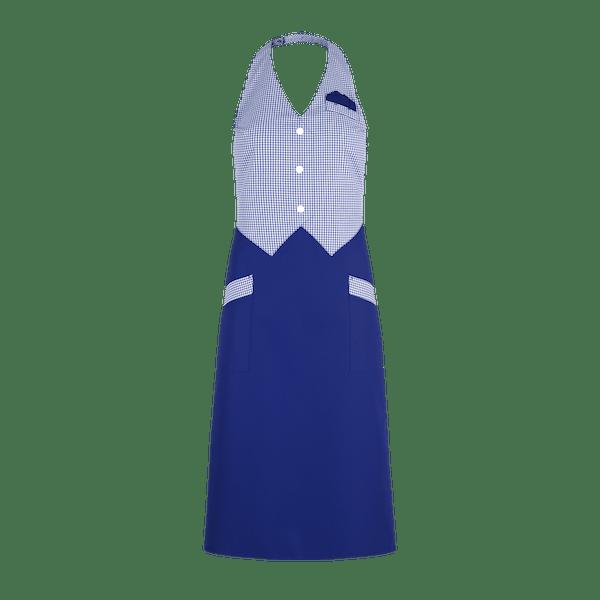 89533-CONCEPT Westenrock-alaskablau/blau-weiß vichy