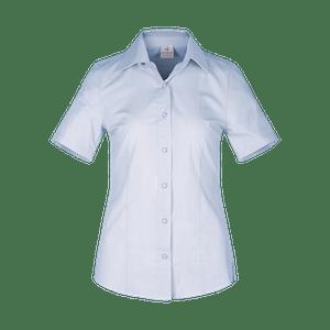 480262-CONCEPT Bluse 1/2, Damen-hellblau/weiß gestreift