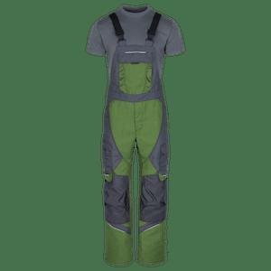 230530-HERO FLEX Latzhose mit Knieverstärkung-neo green/grey