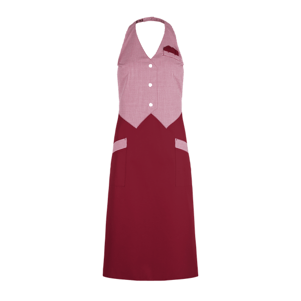 89041-CONCEPT Westenrock-bordeaux/bordeaux-weiß karo