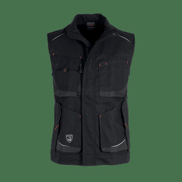 14854-MYCORE FORCE AIR Weste-black/black