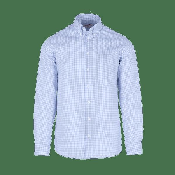 910060-BUSINESS&CASUAL Hemd 1/1-hellblau Vichy