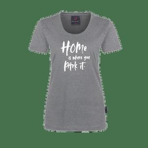 440798-CORE T-Shirt Freundship, Damen-grau meliert