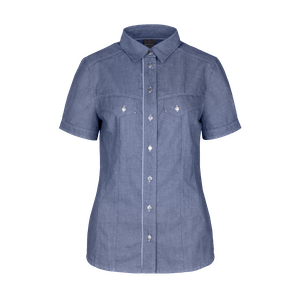 480891-DENIM CRAFT Bluse 1/2, Damen-denim blue