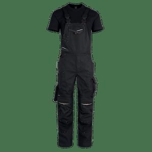 23554-MYCORE FORCE Latzhose mit Kniepolstertaschen-black/black