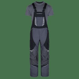 230500-HERO FLEX Latzhose mit Knieverstärkung-grey/black