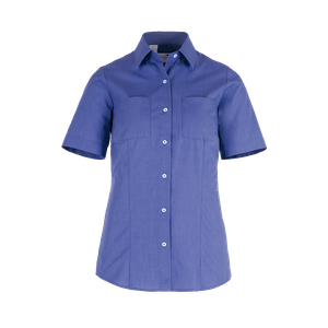 481150-BUSINESS&CASUAL Bluse 1/2, Damen-mittelblau